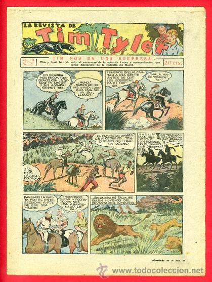 TIM TYLER , HISPANO AMERICANA 20 CTS. , ORIGINAL ANTIGUO , Nº 78 (Tebeos y Comics - Hispano Americana - Tim Tyler)