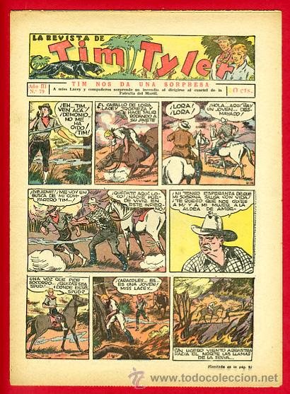 TIM TYLER , HISPANO AMERICANA 20 CTS. , ORIGINAL ANTIGUO , Nº 79 (Tebeos y Comics - Hispano Americana - Tim Tyler)
