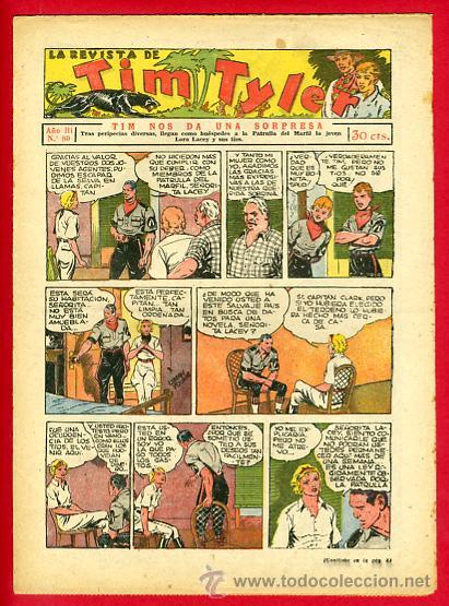 TIM TYLER , HISPANO AMERICANA 20 CTS. , ORIGINAL ANTIGUO , Nº 80 (Tebeos y Comics - Hispano Americana - Tim Tyler)