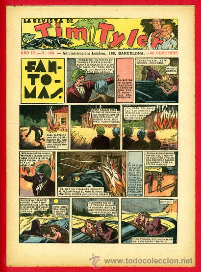 TIM TYLER , HISPANO AMERICANA 20 CTS. , ORIGINAL ANTIGUO , Nº 100 (Tebeos y Comics - Hispano Americana - Tim Tyler)