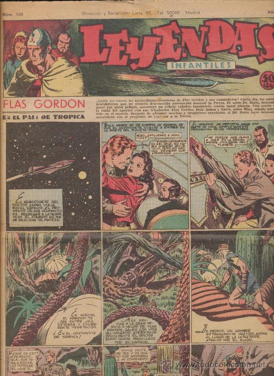 LEYENDAS INFANTILES Nº 100. HISPANO AMERICANA 1944. (Tebeos y Comics - Hispano Americana - Leyendas Infantiles)