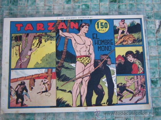 HISPANO AMERICANA - COLECCIÓN DE TARZÁN, AÑOS 40, VER INTERIOR, (Tebeos y Comics - Hispano Americana - Tarzán)