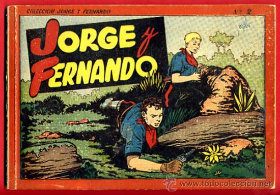 JORGE Y FERNANDO Nº 2 , TAPA DURA , FORMATO PEQUEÑO , HISPANO AMERICANA , ORIGINAL , C29 (Tebeos y Comics - Hispano Americana - Jorge y Fernando)