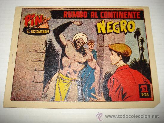 PIN EL TROTAMUNDOS Nº 14 DE HISPANO AMERICANA ORIGINAL . AÑO 1956. (Tebeos y Comics - Hispano Americana - Juan Centella)