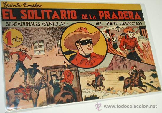 EL SOLITARIO DE LA PRADERA Nº 1 DEL JINETE ENMASCARADO -ORIGINAL-H. AMERICANA 1943 PERF- LEER (Tebeos y Comics - Hispano Americana - Otros)