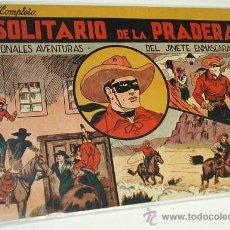 Tebeos: EL SOLITARIO DE LA PRADERA Nº 1 DEL JINETE ENMASCARADO -ORIGINAL-H. AMERICANA 1943 PERF- LEER. Lote 29358666