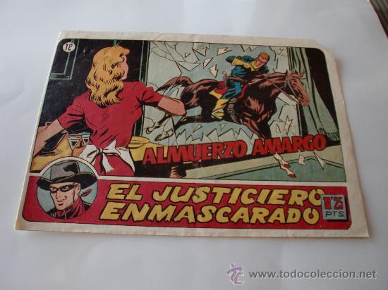 JUSTICIERO ENMASCARADO Nº 12 ORIGINAL (Tebeos y Comics - Hispano Americana - Otros)