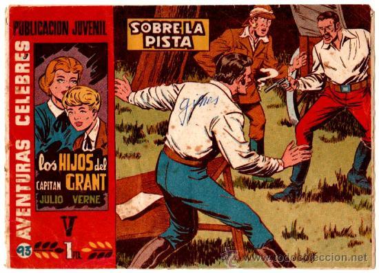 AVENTURAS CELEBRES Nº 94 ( 5º DE LOS HIJOS DEL CAPITÁN GRANT ) DE JULIO VERNE - POR MARTINEZ OSETE (Tebeos y Comics - Hispano Americana - Otros)