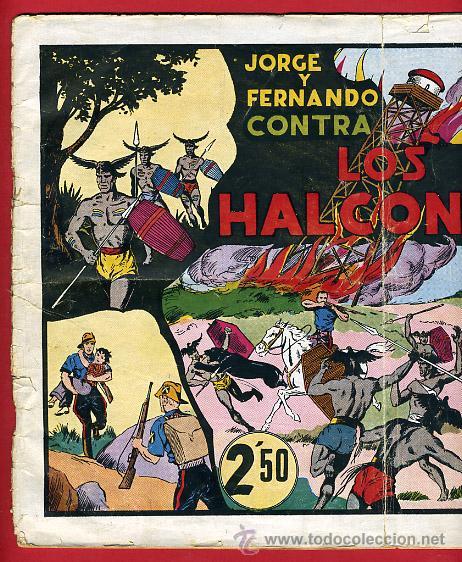 Tebeos: JORGE Y FERNANDO, CONTRA LOS HALCONES 25 X 34 , HISPANO AMERICANA ,ORIGINAL , C70 - Foto 2 - 30264057