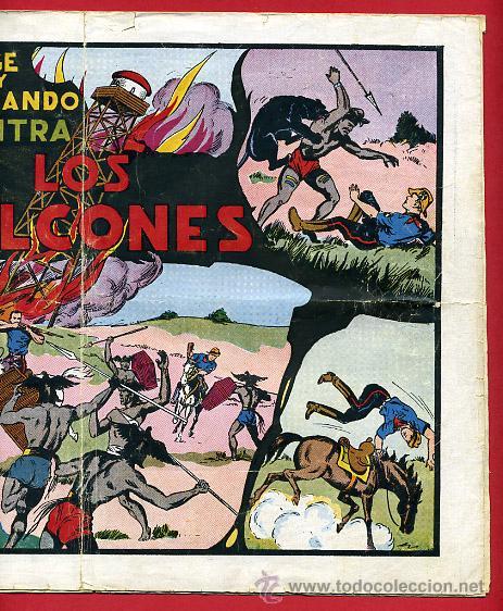 Tebeos: JORGE Y FERNANDO, CONTRA LOS HALCONES 25 X 34 , HISPANO AMERICANA ,ORIGINAL , C70 - Foto 3 - 30264057