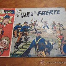 Tebeos: AUDAZ Nº 10 EL ASEDIO AL FUERTE HISPANO AMERICANA 1949 ORIGINAL. Lote 30897734