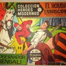 Tebeos: 1958 EL HOMBRE ENMASCARADO NUMERO 38 A - COLECCION HEROES MODERNOS. Lote 31576350