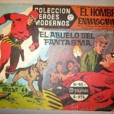 Tebeos: 1958 EL HOMBRE ENMASCARADO NUMERO 40 A - COLECCION HEROES MODERNOS. Lote 31576651