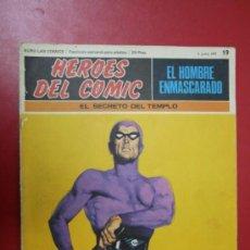 Tebeos: COMIC: EL HOMBRE ENMASCARADO, COLECC. HÉROES DEL CÓMIC Nº 19, 1971. Lote 31611453