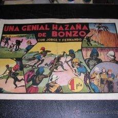 Tebeos - JORGE Y FERNANDO NUM 35 UNA GENIAL HAZAÑA DE BONZO, EDT HISPANO AMERICANA, ORIGINAL - 32085388