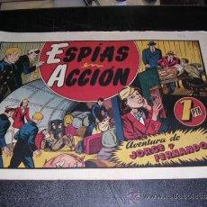 Tebeos: JORGE Y FERNANDO NUM 47 ESPIAS EN ACCION, EDT HISPANO AMERICANA, ORIGINAL. Lote 32086064