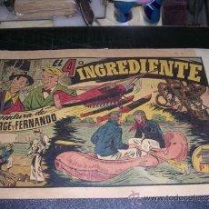 Tebeos: JORGE Y FERNANDO NUM 53 EL 4 INGRADIENTE, EDT HISPANO AMERICANA, ORIGINAL. Lote 32086144