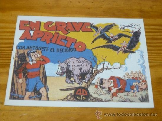TEBEOS-COMICS GOYO - ANTOÑETE EL DECIDIDO - HISPANOAMERICANA - 1943 *BB99 (Tebeos y Comics - Hispano Americana - Otros)
