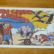 Tebeos: TEBEOS-COMICS GOYO - ANTOÑETE EL DECIDIDO - HISPANOAMERICANA - 1943 *BB99. Lote 32343012