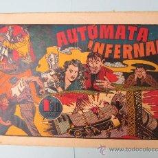 Tebeos: LAS GRANDES AVENTURAS , NUMERO 3 , AUTOMATA INFERNAL ,HISPANO AMERICANA 1941 - CON EL CROMO. Lote 32463133
