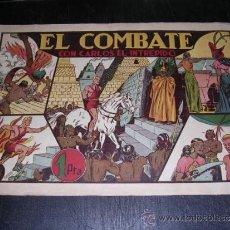 Tebeos: CARLOS EL INTREPIDO EL COMBATE NUM 10 - EDT HISPANO AMERICANA, SEÑALES DE USO. Lote 32700597