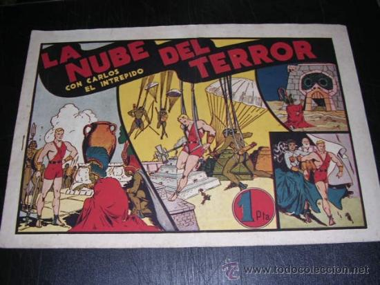 CARLOS EL INTREPIDO LA NUBE DEL TERROR NUM 11 - EDT HISPANO AMERICANA, SEÑALES DE USO (Tebeos y Comics - Hispano Americana - Carlos el Intrépido)
