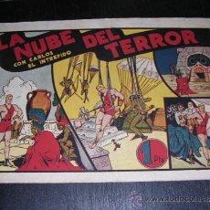 Tebeos: CARLOS EL INTREPIDO LA NUBE DEL TERROR NUM 11 - EDT HISPANO AMERICANA, SEÑALES DE USO. Lote 32700627