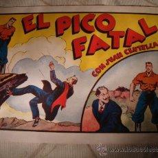 Livros de Banda Desenhada: ANTIGUO COMIC ORIGINAL JUAN CENTELLA, Nº 60 - EL PICO FATAL. HISPANO AMERICANA ANO 1940. EXCELENTE!!. Lote 32870044