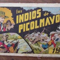 Tebeos: JUAN Y LUIS , NUMERO 8 , LOS INDIOS DE PICOLMAYO ,ORIGINAL , HISPANO AMERICANA , 1942. Lote 32881851