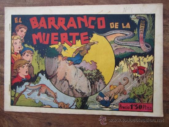 JUAN Y LUIS , NUMERO 6 , EL BARRANCO DE LA MUERTE ,ORIGINAL , HISPANO AMERICANA , 1942 (Tebeos y Comics - Hispano Americana - Otros)