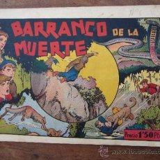 Tebeos: JUAN Y LUIS , NUMERO 6 , EL BARRANCO DE LA MUERTE ,ORIGINAL , HISPANO AMERICANA , 1942. Lote 32881907