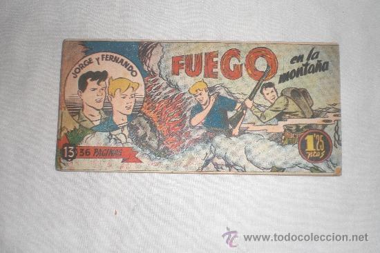 JORGE Y FERNANDO Nº 13 ORIGINAL (Tebeos y Comics - Hispano Americana - Jorge y Fernando)