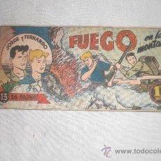 Tebeos: JORGE Y FERNANDO Nº 13 ORIGINAL. Lote 34122741