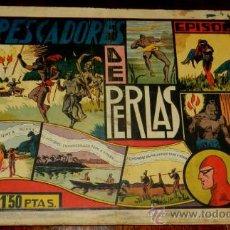 Tebeos: EL HOMBRE ENMASCARADO, LOS PESCADORES DE PERLAS, EPISODIO COMPLETO, EDT, H.AMERICANA, RASGADO POR EL. Lote 34305691