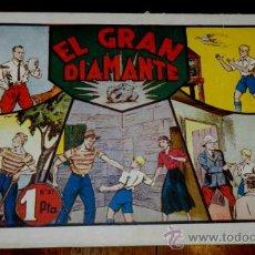 Tebeos: JORGE Y FERNANDO, EL GRAN DIAMANTE, ED. HISPANO AMERICANA, GRAN TAMAÑO MIDE 31 X 21,5 CMS.. Lote 34305990