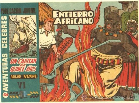 AVENTURAS CELEBRES Nº 108 UN CAPITAN DE 15 AÑOS POR MARTINEZ OSETE, HISPANO AMERICANA 1958 (Tebeos y Comics - Hispano Americana - Otros)