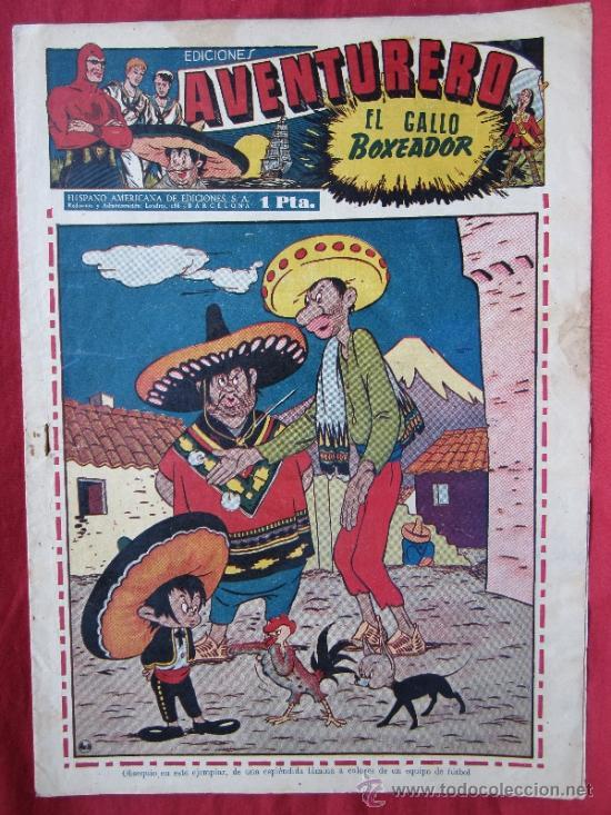 EDICIONES AVENTURERO , NUMERO 16 , HISPANO AMERICANA 1945 , (Tebeos y Comics - Hispano Americana - Aventurero)