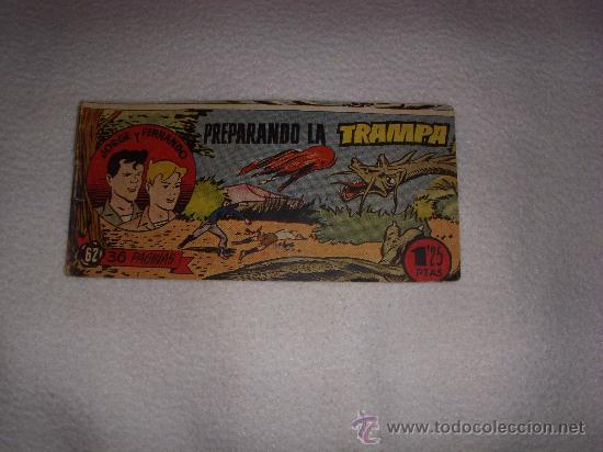 JORGE Y FERNANDO Nº 62, EDITORIAL HISPANO AMERICANA (Tebeos y Comics - Hispano Americana - Jorge y Fernando)