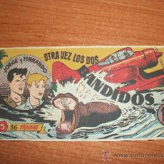 Tebeos: JORGE Y FERNANDO Nº 5 EDITORIAL HISPANO AMERICANA 1949 ORIGINAL . Lote 36111013