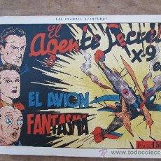 Tebeos: EL AGENTE SECRETO X-9 . NUMERO 3 - EL AVION FANTASMA . HISPANO AMERICANA 1941. Lote 36476982