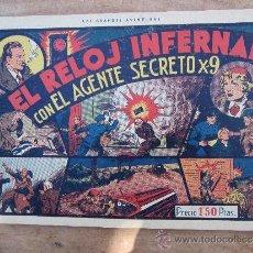 Tebeos: AGENTE SECRETO X-9, NUMERO 2 , EL RELOJ INFERNAL , 1941 , HISPANO AMERICANA. Lote 36477169