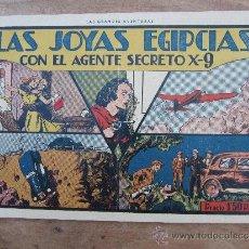 Tebeos: AGENTE SECRETO X-9, NUMERO 4 , LAS JOYAS EGIPCIAS , 1941 , HISPANO AMERICANA. Lote 36477236