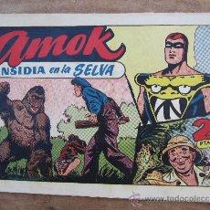 Tebeos: AMOK , NUMERO 32 , INSIDIA EN LA SELVA - HISPANO AMERICANA - ORIGINAL. Lote 36489916