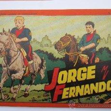 Tebeos: ALBUM ROJO - JORGE Y FERNANDO , NUMERO 4 - COMO NUEVO - HISPANO AMERICANA 1944. Lote 36504087