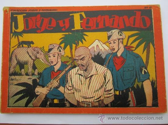 ALBUM ROJO - JORGE Y FERNANDO , NUMERO 6 - HISPANO AMERICANA 1944 (Tebeos y Comics - Hispano Americana - Jorge y Fernando)