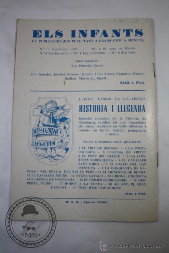 Tebeos: Publicación Infantil Els Infants i els Jocs Numero 5 - Catalan - Hispano Americana - - Foto 3 - 36919975