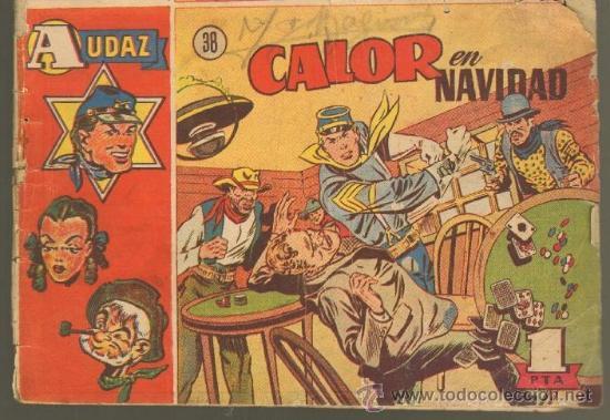 TEBEOS-COMICS GOYO - AUDAZ Nº 38 Nº MUY DIFICIL - HISPANOAMERICANA 1949 ROY D'AMI *UU99 (Tebeos y Comics - Hispano Americana - Otros)