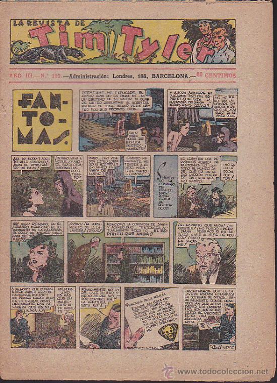 COMIC TIM TYLER Nº 110 (Tebeos y Comics - Hispano Americana - Tim Tyler)