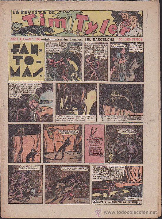 COMIC TIM TYLER Nº 106 (Tebeos y Comics - Hispano Americana - Tim Tyler)