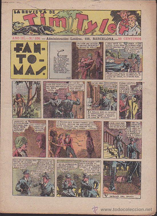 COMIC TIM TYLER Nº 104 (Tebeos y Comics - Hispano Americana - Tim Tyler)